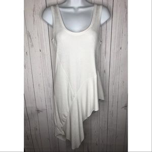 Zara Size Small White Sleeveless Tunic Top
